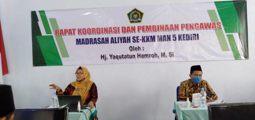 Rapat Kordinasi dan Pembinaan Pengawas Madrasah Aliyah se KKM MAN 5 Kediri